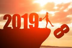 Say goodbye to 2018 year stock image