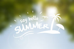 Say hello summer  poster Royalty Free Stock Images