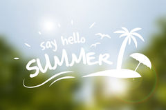 Say hello summer  typography poster Stock Photos