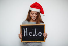 Say hello to Christmas Royalty Free Stock Image