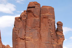 Say Hello to the Hand. Interesting formation in Monument Valley much in the shape of a very prominent hand Stock Photos