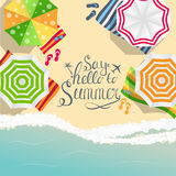 Say Hello to Summer Natural Background Vector Illustration. EPS10 Stock Photos