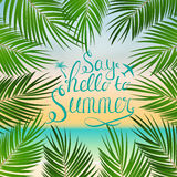 Say Hello to Summer Natural Background Vector Illustration. EPS10 Stock Images