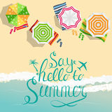 Say Hello to Summer Natural Background Vector Illustration. EPS10 Stock Photography