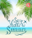Say Hello to Summer Natural Background Vector Illustration. EPS10 Stock Photo
