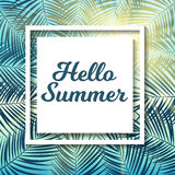 Say Hello to Summer Natural Background Vector Illustration. EPS10 Royalty Free Stock Photos