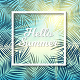 Say Hello to Summer Natural Background Vector Illustration. EPS10 Royalty Free Stock Photo