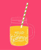 Say Hello to Summer Natural Background Vector Illustration Stock Image