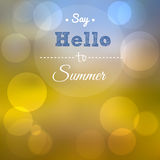 Say Hello to Summer. Summer poster Royalty Free Stock Photo