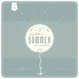 Say Hello to Summer  / retro  background  /  with  Royalty Free Stock Photography