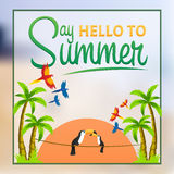 Say Hello to summer. Summer poster. Say Hello to summer. Summer poster Royalty Free Stock Image