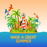 Say Hello to summer. Summer poster. Say Hello to summer. Summer poster Stock Images