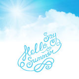 Say hello to summer Stock Image