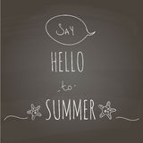 Say Hello to summer. Stock Images