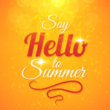 Say Hello to Summer vector sunshine background Royalty Free Stock Image