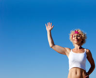 Say Hi - Greeting To The Sun * Personal Trainer Stock Photos
