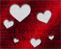 Say I love you in many languages Stock Image