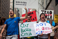 Say It Loud!!!. New York City protest of Syrian invasion Royalty Free Stock Photo