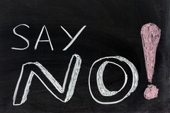 Say no!. Conceptional chalk drawing - Say no Royalty Free Stock Images