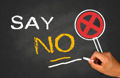 Say no. Concept on blackboard background Royalty Free Stock Photos