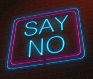 Say no concept. Royalty Free Stock Photo