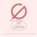 Say no by no signs Stock Photo
