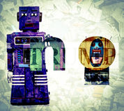 Say no. Robots say No to Trump Stock Photo