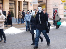 Say No To ACTA, Lublin, Poland Royalty Free Stock Photo