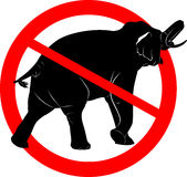 Say NO! to animals in circuses. ban circus animals using a. elephant. prohibition sign. Say NO! to animals in circuses. ban circus animals using a. bear at the Royalty Free Stock Images