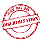 Say no to discrimination. Rubber stamp with text say no to discrimination inside,  illustration Royalty Free Stock Image