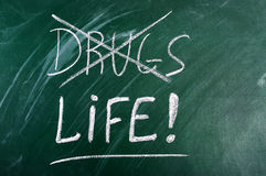 Say no to drugs,choice life Royalty Free Stock Photo