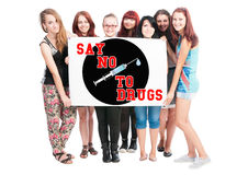Say no to drugs Royalty Free Stock Photo
