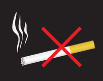 Say No to nicotine dependence. Vector illustration Royalty Free Stock Photo