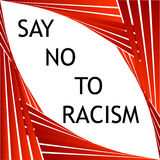 Say no to racism graphic. On red Royalty Free Stock Photography