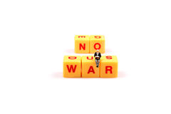 Say no to war. Concept image of message with no to war royalty free stock images