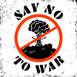 Say no to war Stock Images