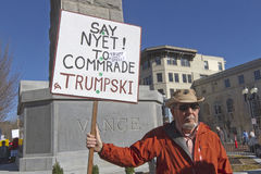 Say Nyet to Commrade Trumpski Sign Stock Photography
