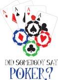 Say Poker? Stock Image