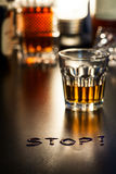 Say Stop to Alcohol Stock Photography