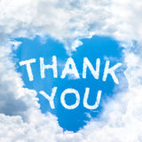Say Thank you concept tell by shy cloud nature Royalty Free Stock Images