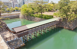 Saya-bashi bridge of Takamatsu castle, Shikoku, Japan Royalty Free Stock Photography
