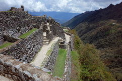 The Sayacmarca ruins on the Inca Trail Royalty Free Stock Photo