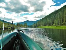 Sayan Kitorm, Ryssland som fiskar Royaltyfri Fotografi