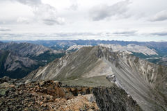 Sayan mountains ridge and rocks in Siberia.Russia. Royalty Free Stock Images