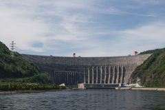 Sayano-Shushenskaya Hydro Power Station on the River Yenisei Royalty Free Stock Photo