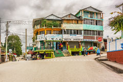 Sayaxche小镇在危地马拉 免版税库存照片