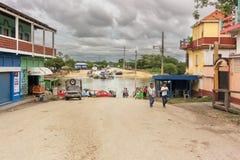 Sayaxche小镇在危地马拉 免版税库存图片