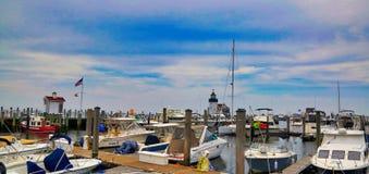 Saybrook-Punkt Marina Connecticut lizenzfreies stockfoto
