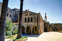 Saydet Al Deir Al的Qamar,黎巴嫩Talle教会 免版税库存图片