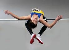 Sayevych Anton auf dem Hochsprung Stockfotos